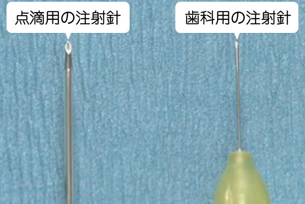 細い麻酔注射針